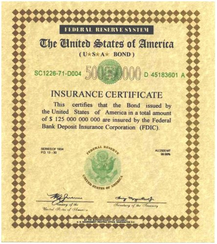 Example of a Bond Insurance Certificate